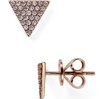 Crislu Triangle Pave Stud Earrings