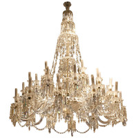 19th Century Impressive 30 arms Baccarat Crystal Chandelier