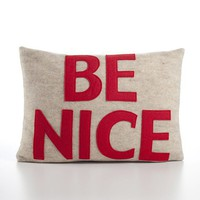 BE NICE 10X14inch pillow recycled felt by alexandraferguson