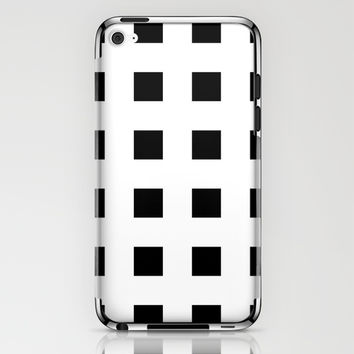 Cross Squares Black & White iPhone & iPod Skin by BeautifulHomes | Society6
