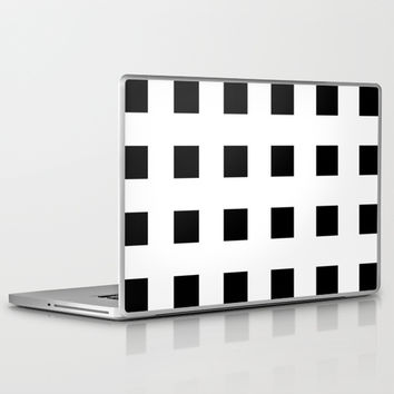 Cross Squares Black & White Laptop & iPad Skin by BeautifulHomes | Society6