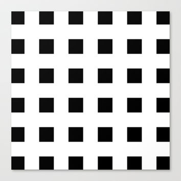 Cross Squares Black & White Stretched Canvas by BeautifulHomes | Society6