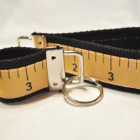Adorable measuring tape ribbon keychain set