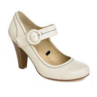 Retro To Go: Cream Mary Jane Courts from Debenhams Collection