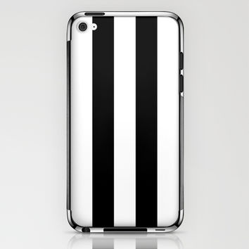 Stripe Black & White iPhone & iPod Skin by BeautifulHomes | Society6