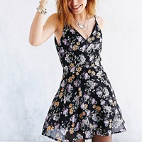 Glamorous Floral Chiffon V-Back Mini Dress - Urban Outfitters