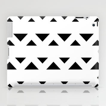 Tribal Triangles Black & White iPad Case by BeautifulHomes | Society6
