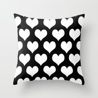 Love Black & White Throw Pillow by BeautifulHomes | Society6