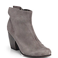 Coclico - Vita Suede Flared Ankle Boots - Saks Fifth Avenue Mobile