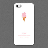 iPhone 4 / 4s / 5 / 5s Case - Pink ice cream cone, iPhone Case, iPhone5 Case, Cases for iPhone5, iPhone5s Case, Cases for iPhone5s