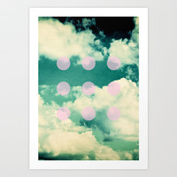 CLOUDS Art Print by K IS FOR BLACK
