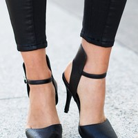 Mr & Mare Crew Heels - thin ankle strap and cut out heels