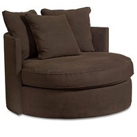 Doss Godiva Living Room Chair, Round Swivel - Chairs & Recliners - furniture - Macy's