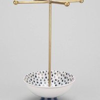 Plum & Bow Printed Dish Jewelry Stand- Blue One