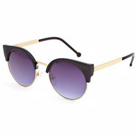 Full Tilt Sophia Sunglasses Black One Size For Women 24099510001