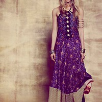 Free People Womens Meadow's Patched Silk Maxi