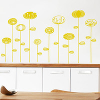 Retro Yellow Flower Wall Decals