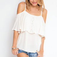 Eternal Sunshine Creations Sofia off shoulder top in ivory