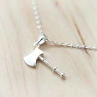 Lovely AXE Necklace in silver