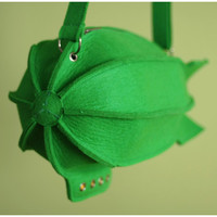 Airship Bag Green Felt Blimp Bag