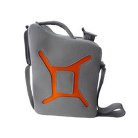 Grey Orange Gas Can Gasoline Felt Bag