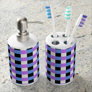 """Squares"" Abstract Art Bath Set"