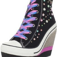 Rock & Candy Women's LuLu-Party Wedge Fashion Sneaker