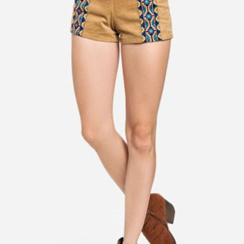 DailyLook: Tribal Corduroy Shorts in Camel S - L