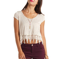 BOXY CROCHET FRINGE CROP TOP
