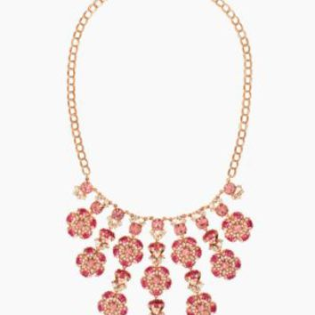 encrusted petals statement necklace - kate spade new york