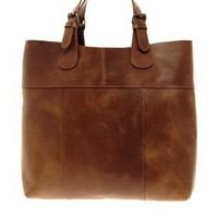 Pieces | Pieces Premium Naysa Leather Shopper at ASOS