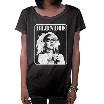 "Women's ""Blondie"" Juniors Tee by Goodie Two Sleeves (Black)"