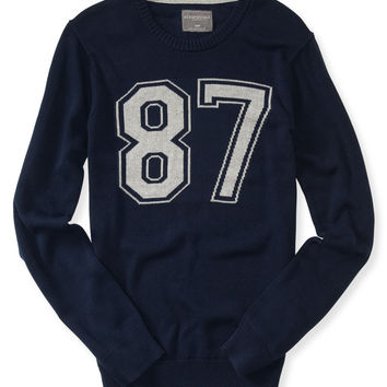 Intarsia 87 Crew-Neck Sweater