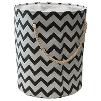 Walmart: Mainstays Canvas Fabric Hamper, White and Gray