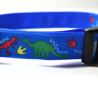 Dinosaur Dog Collar Adjustable Sizes (M, L, XL)