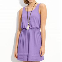 Lush Pleated Hem Dress (Juniors) | Nordstrom
