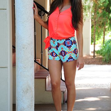 This I Believe Top: Neon Coral