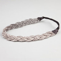 Full Tilt Seed Bead Heaband Pewter One Size For Women 24237711401