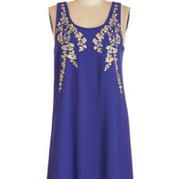 ModCloth Mid-length Sleeveless Shift Everything Exquisite Dress