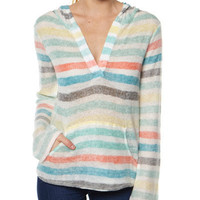 SURFSTITCH - WOMENS - KNITS - JUMPERS - ROXY WATER FIGHT KNIT - NATURAL STRIPE