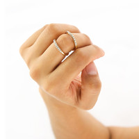 Pave Infinity Knuckle Ring