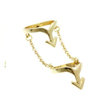 What Goes Up Knuckle Ring (Gold)