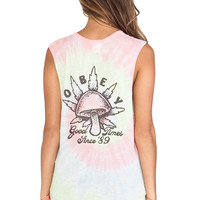 Obey Good Time Tank in Pink
