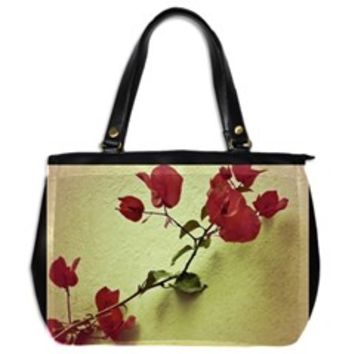 Santa Rita Flower Oversize Office Handbag (Two Sides)