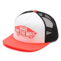 Vans Beach Girl Trucker Hat (Neon Coral)