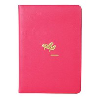 "Little Airplane Passport Travel Document Cover, (5.4"" L x 0.2"" W x 3.7"" H) (Hot Pink)"