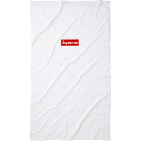 Supreme: Box Logo Beach Towel - White