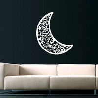 Sky Moon Wall Decal Half Moon Crescent Decals Vinyl Sticker Interior Home Decor Art Decor Bedroom Nursery Baby Kids Children's Room SV5913
