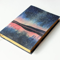 Cosmos, galaxy, Landscape  Stars,  Journal, Large notebook. nebula, galaxy, blank book