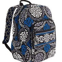 NWT VERA BRADLEY Canterberry Cobalt Campus Backpack Book school bag $109